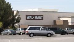 Walmart Supercenter Store Stock Footage