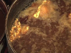 Fish FryingPan Right Stock Footage