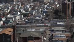 Aerial NYC Skyline - stock footage