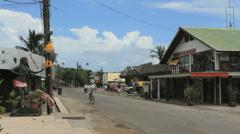 Bora Bora bikes and traffic Stock Footage