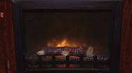 Fake Fireplace 001 Stock Footage