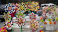 Pinwheels Toys in Hanoi's streets in a busy day, Vietnam Footage