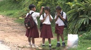 Stock Video Footage of Schoolchildren in uniform