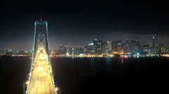 Bay Bridge in San Francisco time lapse Stock Footage