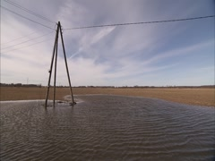 Flooded Field Stock Footage