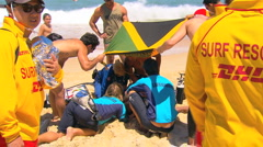 Bondi Beach Drowning Lifesaving Rescue Operation PT1 Stock Footage