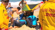 Stock Video Footage of Bondi Beach Drowning Lifesaving Rescue Operation PT1