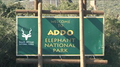 Addo Elephant National Park, sign Stock Footage