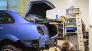 Stock Video Footage of Car repair shop timelapse