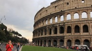 Tourists visit the majestic Roman Colosseum Stock Footage