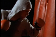Man boxing Stock Footage