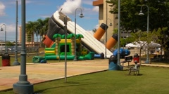 Puerto Rico - Air Inflatables - Children Fun Park 2 Stock Footage