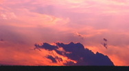 Desert Sunset With Drifting Clouds Stock Footage