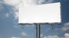Billboard Clouds Background HD Stock Footage