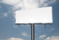 Billboard Clouds Background SD Stock Footage