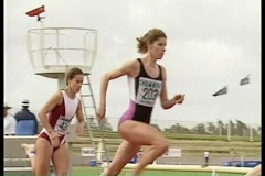 Track and Field: relay race Stock Footage