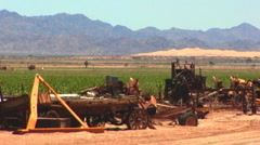 Rusted Farm Machinery In Imperial Valley Stock Footage