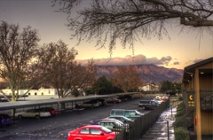 Sandia Sunset Clouds 4K Stock Footage