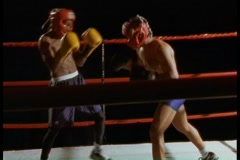 Boxers in boxing ring Stock Footage