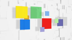 Color Squares Loopable Background HD Stock Footage