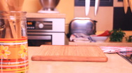 Stock Video Footage of cooking 0002 - eggplants