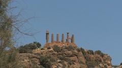 Sicily Agrigento ruins Stock Footage
