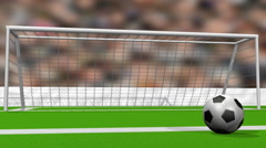 Soccer Goal Animation Stock Footage