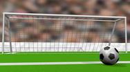 Soccer Goal Animation Stock Footage