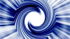 Rotation blue metal turbine,energy tunnel and rays light. Stock Footage