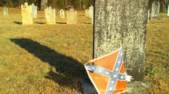Old civil war cemetery 02 Stock Footage