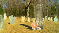 Old civil war cemetery Stock Footage