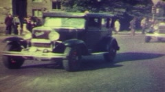Old tipe car Stock Footage