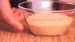 cooking 0016- bowl with noodles - stock footage