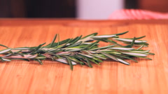 Cooking 0021-fresh rosemary Stock Footage