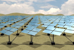 Solar Energy Desert Array SD Stock Footage