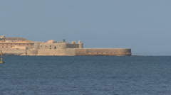 Sicily zooms from Siracuse walls  Stock Footage