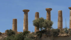 Agrigento ruins in Sicily Stock Footage