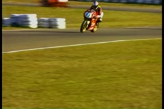 Motorcycle race Stock Footage