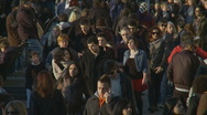 London crowd scene - Slow motion Stock Footage