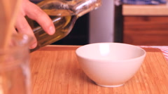 Cooking 0044-olive oil in bowl Stock Footage