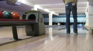 People play bowling in club, time lapse Stock Footage