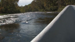 Fly Fishing-Boat Stock Footage