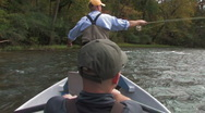 Stock Video Footage of Fly Fishing-RearBoat
