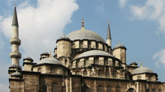 Yeni cami mosque istanbul Stock Footage