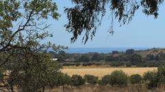 Sicily A rural landscape at Agrigento  Stock Footage