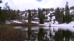 Lake Tahoe-Lake Shirley Reflect Stock Footage