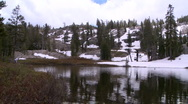 Stock Video Footage of Lake Tahoe-Lake Shirley Reflect