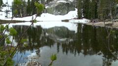 LakeTahoe-Mountain Lake Reflection Stock Footage