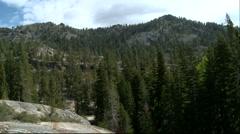Lake Tahoe-Mountain Trees - stock footage