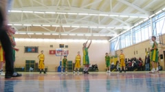 Basketball in Russian State University of Physical Education Stock Footage